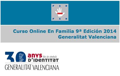 Curso Online En Familia 9ª Edición 2014 Generalitat Valenciana