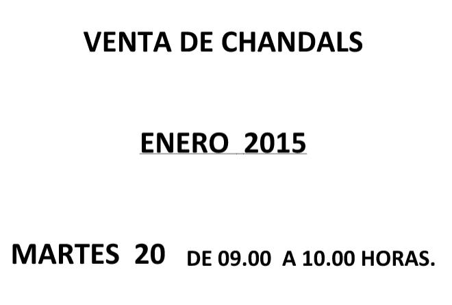 Venta de chandals – Enero 2015