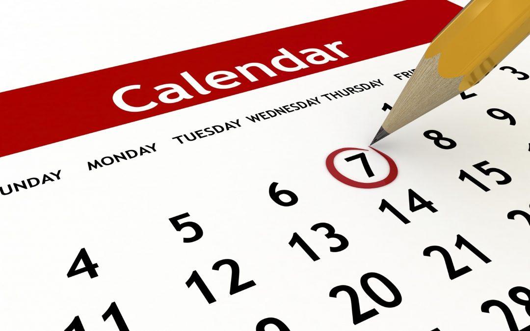 Calendarios de admisión del alumnado para el curso 2020-2021