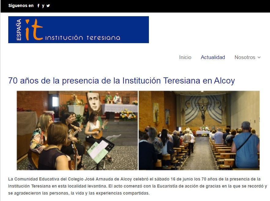 70 años de la presencia de la Institución Teresiana en Alcoy