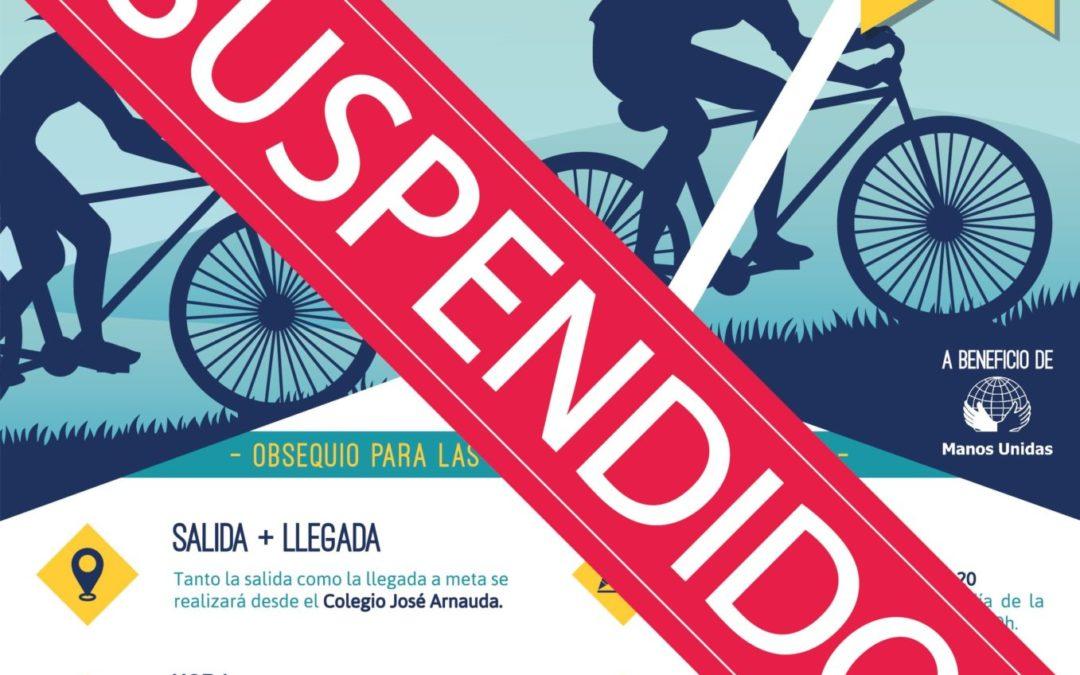 Suspensión VI Marcha de Bicicletas