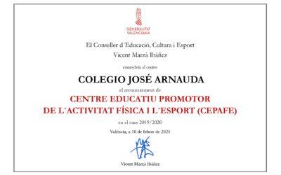 Un any més rebem el certificat CEPAFE